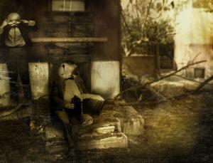 """מתוך עטיפת """"קסמים לסבל"""" של קטב מרירי. עבודה של מירב שחם."""