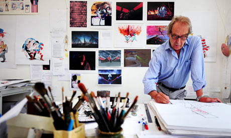 ג'ראלד סקארף, בסטודיו הלונדוני שלו.