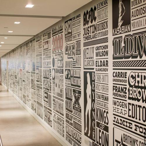 העיצוב החדש של מסדרונת המשרדים החדשים של סוני.