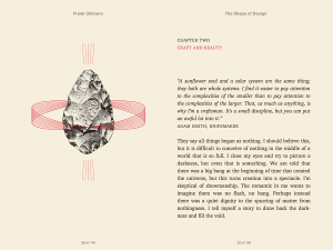The shape of Design/Frank Chimero. כל פרק נפתח במעין עטיפה משלו.