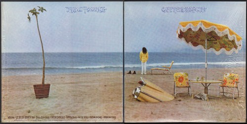 עטיפת One the beach של ניל יאנג, 1974