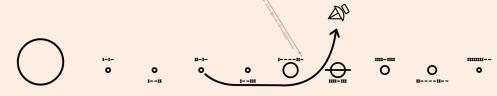 מסלול החללית פיוניר 10 על גבי הדיסקית.